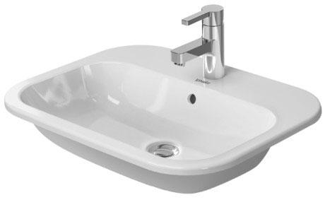 happy d.2 lavabo da incasso #048360 | duravit - Lavabo Da Incasso Per Bagno